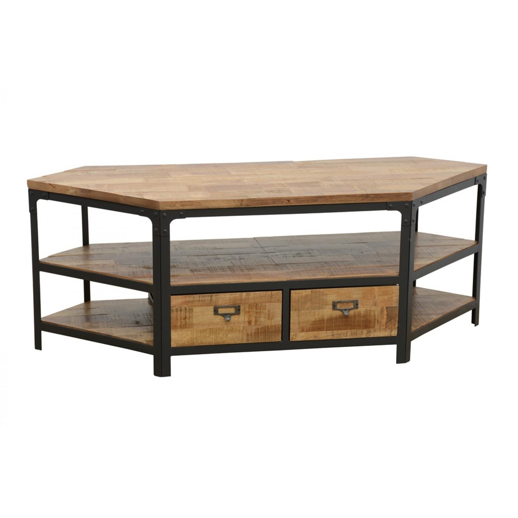 meuble tv d 39 angle 2 tiroirs wolof par nomadde meubles design. Black Bedroom Furniture Sets. Home Design Ideas