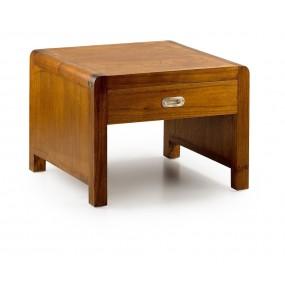 TABLE BASSE MAORI 1+1 TIROIR 60*60*40