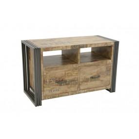 Meuble TV 2 tiroirs Wolof 90cm