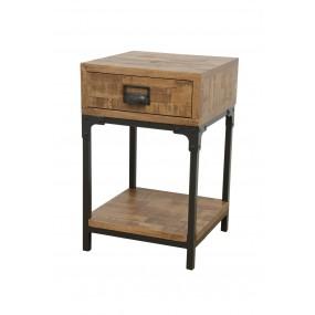 Table de chevet aspect vieilli