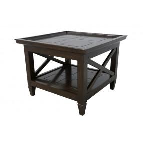 Table basse carrée coloniale petit modèle Karen