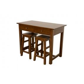 Table 110x60x85cm + 2 tabourets 60cm bama