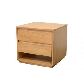 Bout de canapé 2 tiroirs 50x50x50cm Sami