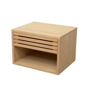 Table chevet 1 tiroir 50x40x40cm Inuit