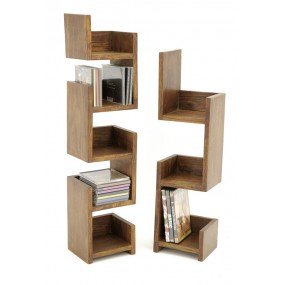 Set de 2 étagères livres / CD Hindi