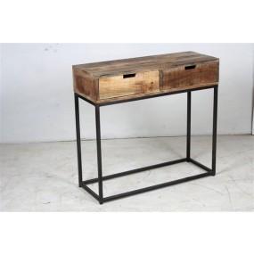 Console 2 tiroirs fer Pachtoune