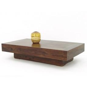 Table basse bloc de bois plein rectangle