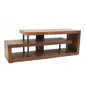 Meuble TV escargot bois massif métal