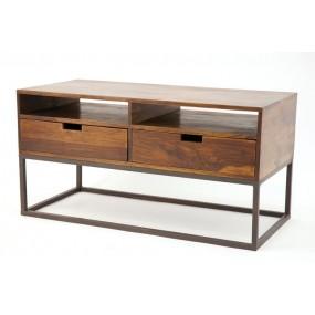 Meuble TV 2 tiroirs fer Pachtoune