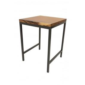 Table de Bar Wolof  800X800X1100 Plateau en Acacia de 5CM