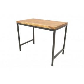 Table repas Wolof 1400X800X1100 Plateau Acacia en forme libre de 5CM