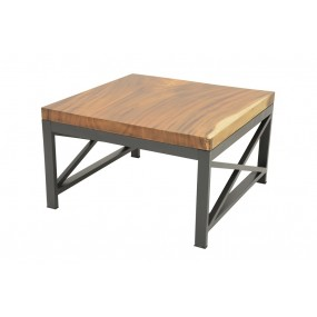 Table basse Wolof 800X800X470 Plateau Acacia de 5CM