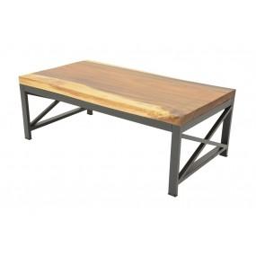 Table basse Wolof 500X500X500 Plateau Acacia de 5CM
