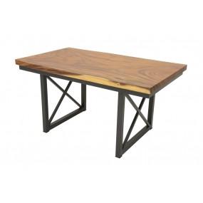 Table repas Wolof 1500X850X760 Plateau Acacia en forme libre de 5CM