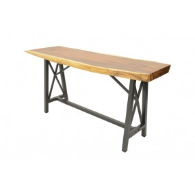 Table de Bar - plateau en Acacia épais (8 cm) - M