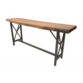 Table de Bar - plateau en Acacia épais (8 cm) - XL