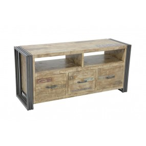 Meuble TV 2 tiroirs Wolof 120cm