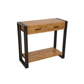 Console 2 tiroirs 1 étagère Wolof