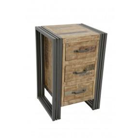 Meuble de rangement 3 tiroirs Wolof