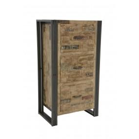 Meuble de rangement 110cm 3 tiroirs Wolof