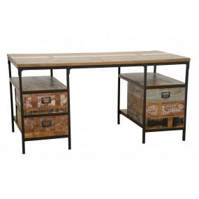 Bureau 3 tiroirs Wolof