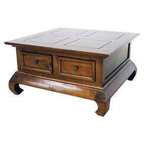 Table opium 2 tiroirs 75x75x40cm