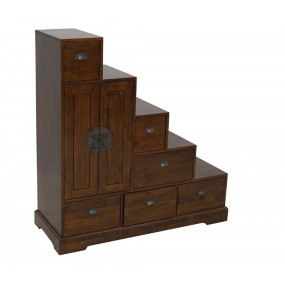 Escalier chine 2 portes 6 tiroirs Hmong