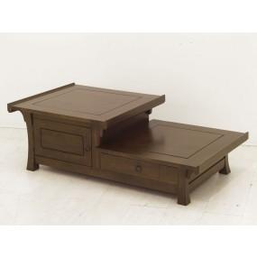 Table basse 1 tiroir 2 portes Khmer
