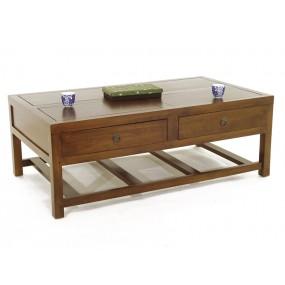 Table basse 4 tiroirs Teuton