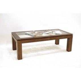Table basse rectangle vitrée Maya