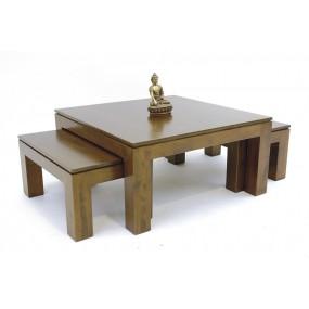 Set de 3 tables basses  Maya