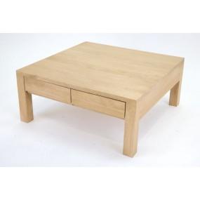 Table basse carrée 4 tiroirs Sami