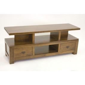Meuble TV 2 tiroirs 1 étagère Maya