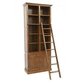 Bibliothèque 2 portes + échelle 100x42x240 cm Teuton