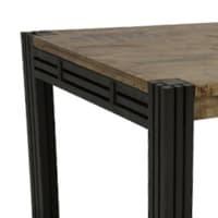 Table de style industriel bois massif et fer